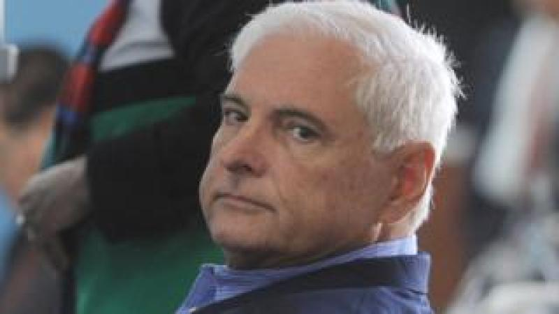 Panamanian former president Ricardo Martinelli in Guatemala city on January 29, 2015