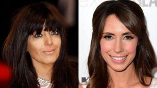 Claudia Winkleman and Alex Jones