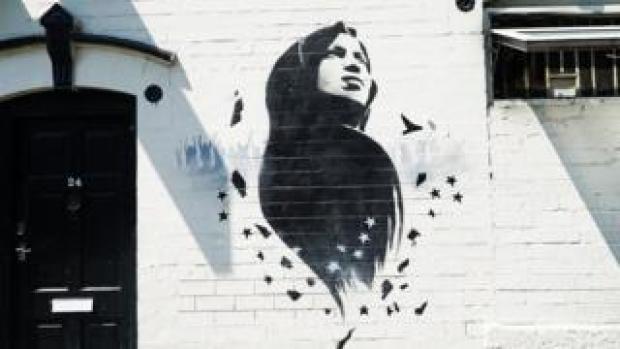 Ilhan Omar mural in Birmingham
