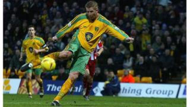 Norwich City striker Iwan Roberts