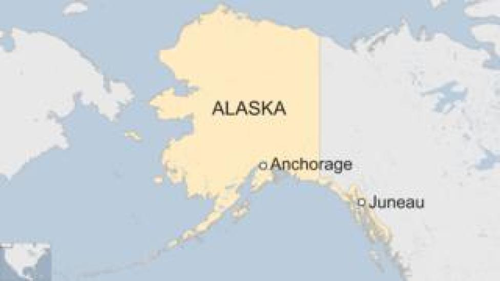 Map shows Anchorage in Alaska-nc
