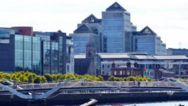Dublin's financial district