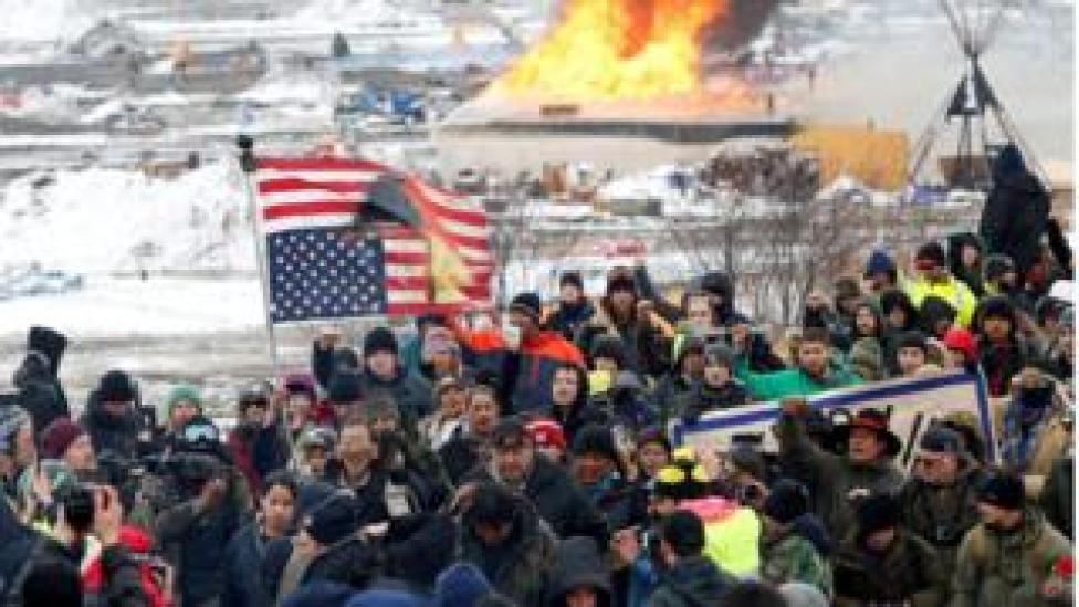 USA Economics Opponents of the Dakota Access oil pipeline march out of their main camp near Cannon Ball, North Dakota