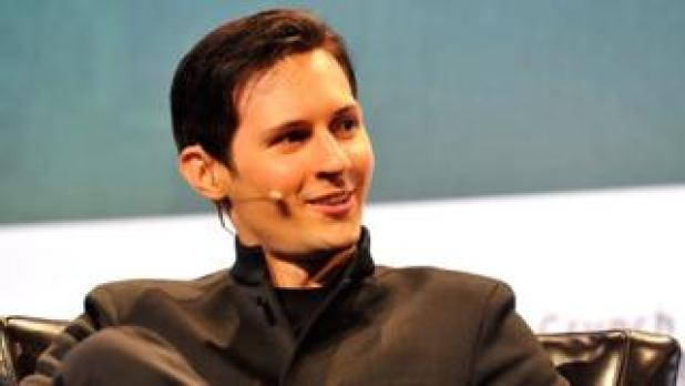 Telegram and Vkontakte founder Pavel Durov speaks at the TechCrunch conference in San Francisco in 2015.