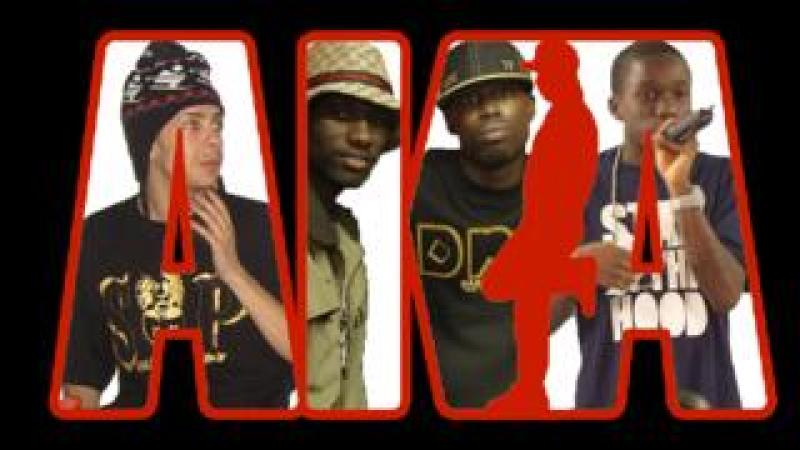 Dappy, Wretch 32, Ghetts and Tinchy Stryder behind a Channel AKA logo
