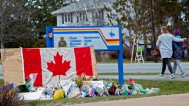 Vigil outside RCMP office in Nova Scotia