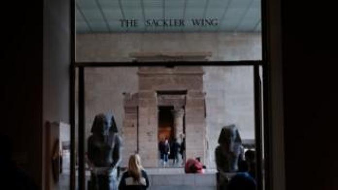 People visit the Sackler Wing at the Metropolitan Museum of Art on March 28, 2019 in New York City