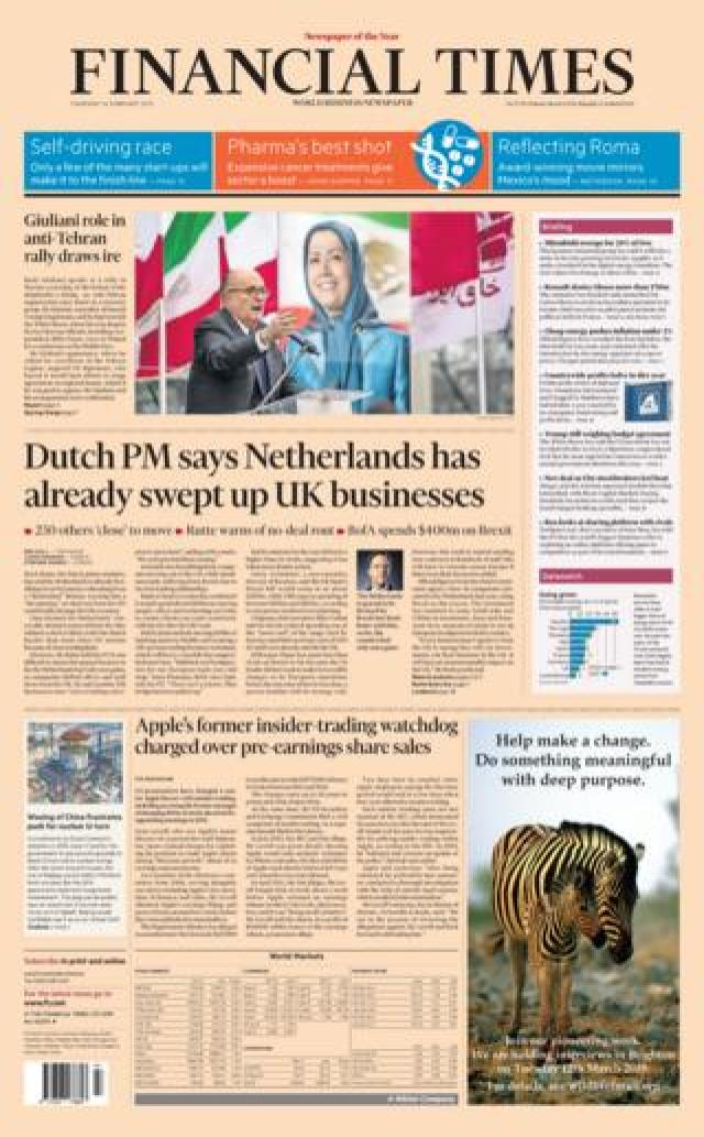 FT front page 14/02/19