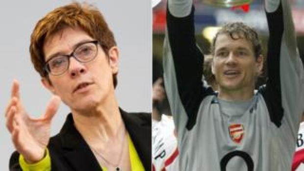 Annegret Kramp-Karrenbauer and Jens Lehmann