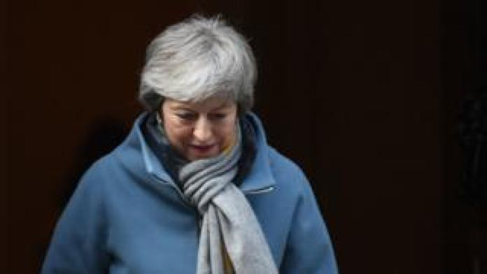 Nation breaking news Prime Minister Theresa May leaves 10 Downing Street, London