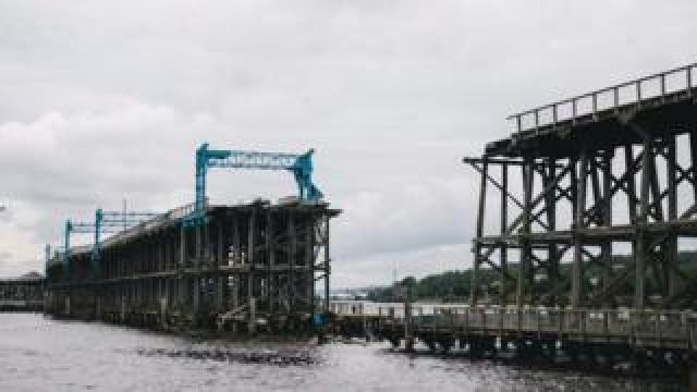 The missing 50m section of Dunston Staiths