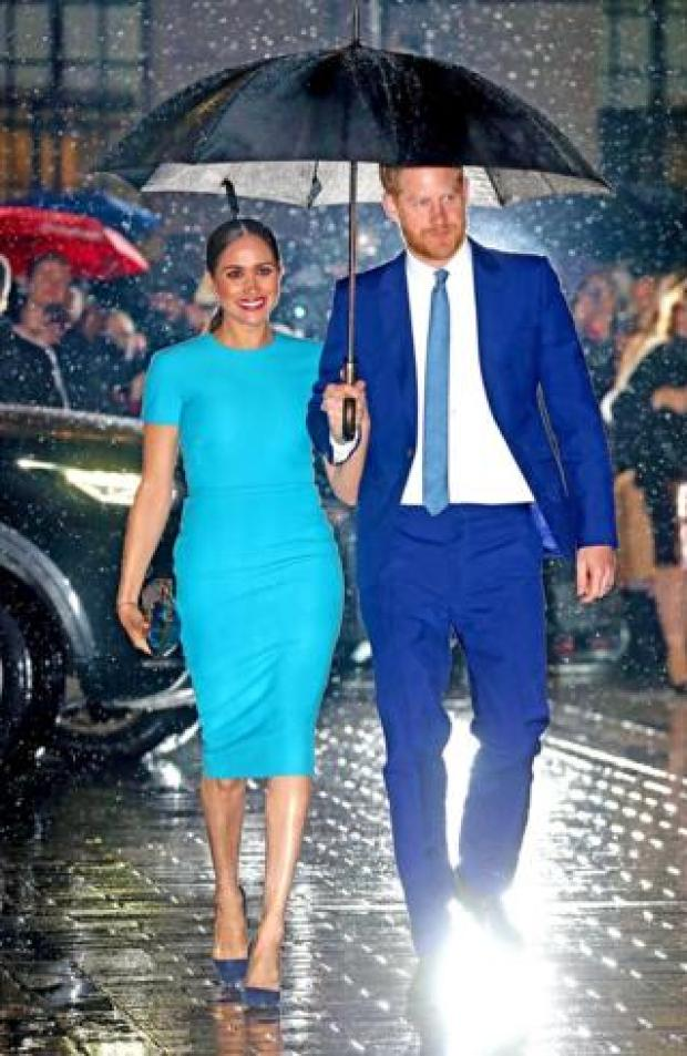 Prince Harry, Duke of Sussex and Meghan, Duchess of Sussex attend The Endeavour Fund Awards at Mansion House