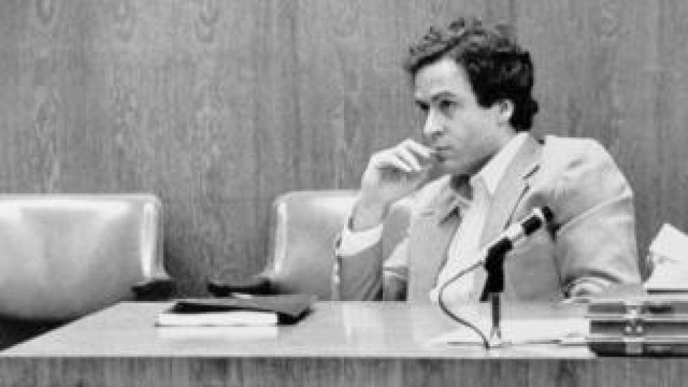 Ted Bundy watching jury selection for his Orlando trial