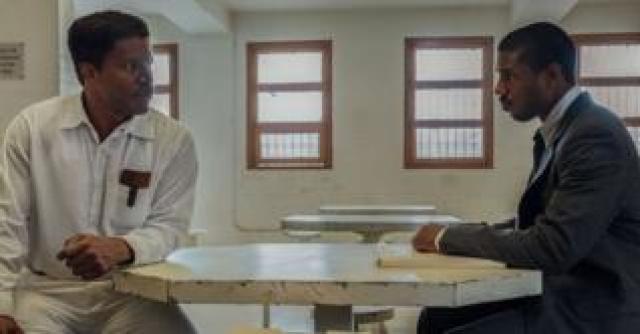 Jamie Foxx and Michael B. Jordan in Just Mercy