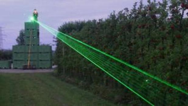 A laser beam on a farm
