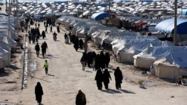 Al-Hol displacement camp in Syria