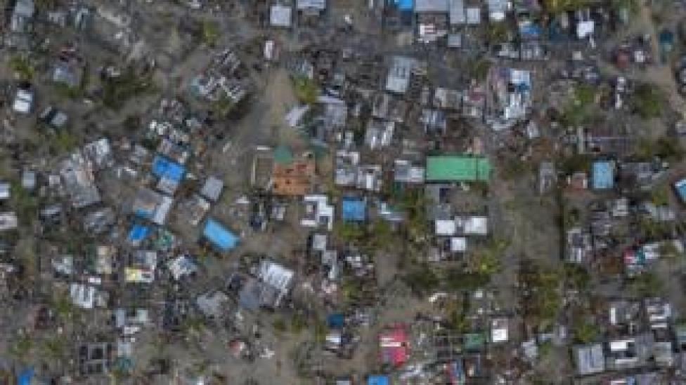 Nhamudima, an area of makeshift homes in the city of Beira, was heavily affected by the cyclone
