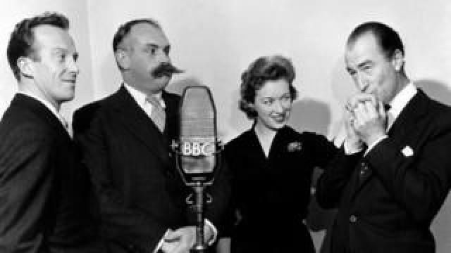 June Whitfield with Wallace Eaton, Jimmy Edwards and Dick Bentley