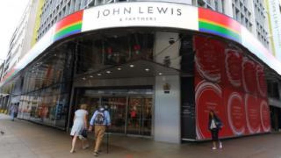 Two people walk in to a John Lewis