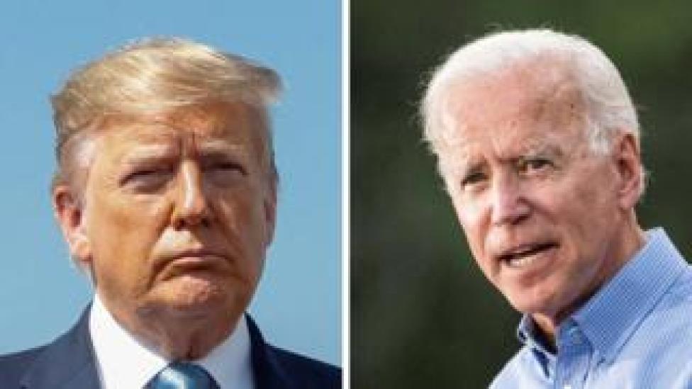 trump Split image: Donald Trump and Joe Biden