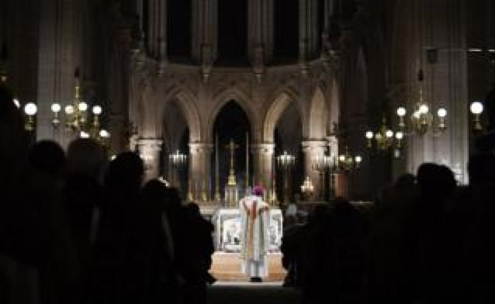 midnight mass for Christmas at the Saint Germain l