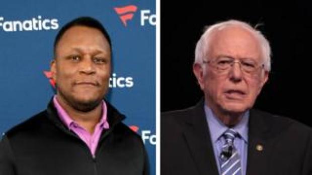 American football player Barry Sanders, left, is not politician Bernie Sanders, right