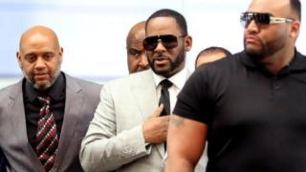 R Kelly attends a court hearing