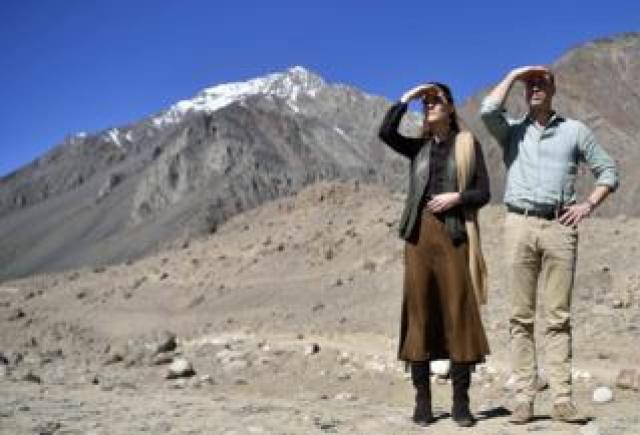The Duke and Duchess of Cambridge visit the Chiatibo glacier in Pakistan