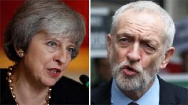 Prime Minister Theresa May and Labour leader Jeremy Corbyn