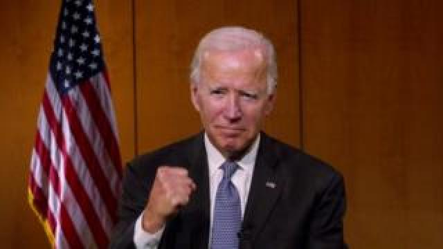 Joe Biden speaks at the Democratic National Convention, 19 August 2020
