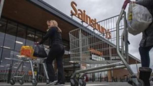 Sainsbury's shoppers