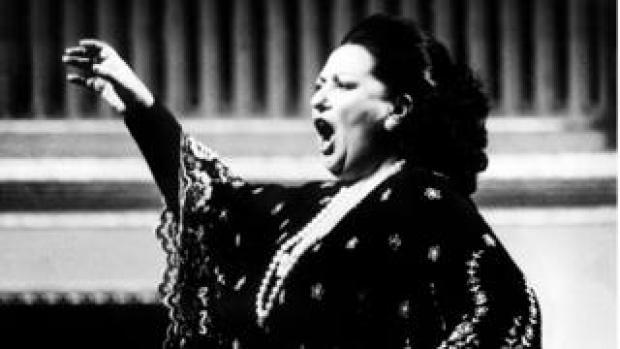 Montserrat Caballe performing in Vienna in 1979
