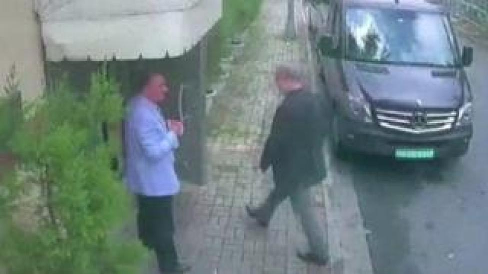 NEWS This image appears to show Jamal Khashoggi entering the consulate last week