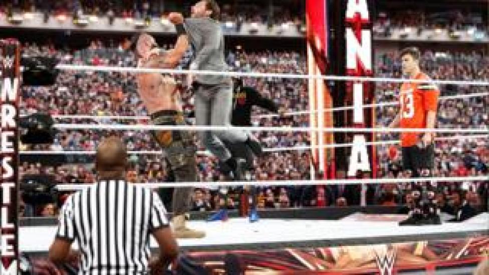 Scene from Wrestlemania 35