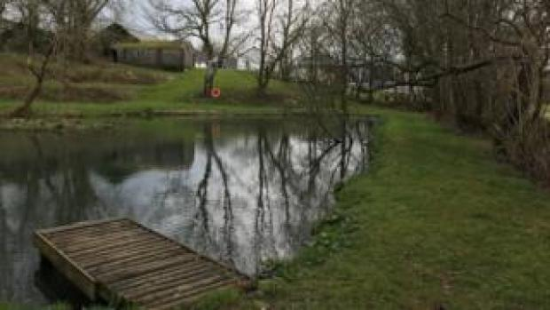 A pond at Dolcoed camping site