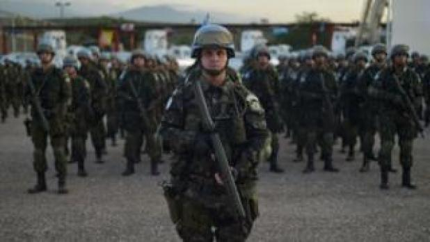 Brazilian military United Nations Stabilization Mission in Haiti (MINUSTAH) Port-au-Prince, on June 2, 2017. This contingent has 250 soldiers, who will be in mission in Haiti until next October, when the UN mission in Haiti ends.