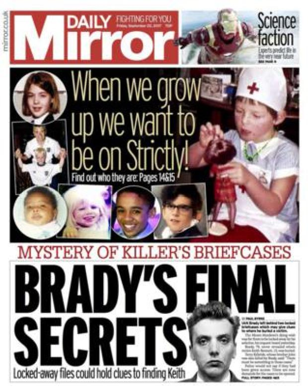 Mirror front page 22/09/2017