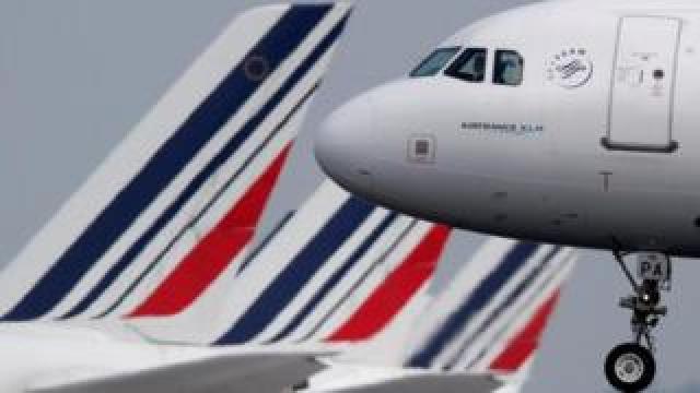 Air France plane landing