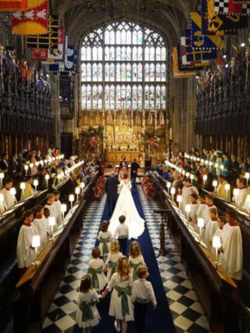 "The wedding of Princess Eugenie to Jack Brooksbank at St George""s Chapel in Windsor Castle"