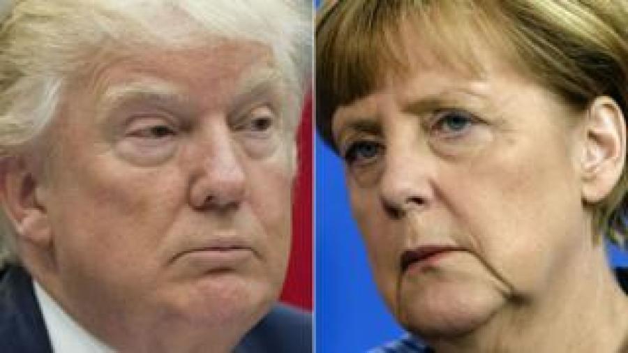 Donald Trump na Angela Merkel bafise uburongozi butandukanye