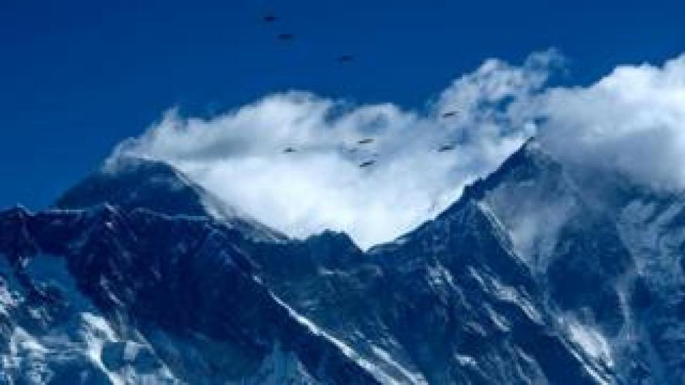 The Himalayan mountain Mount Everest