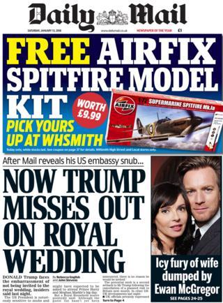 Newspaper headlines: Trump's 'racist' remarks and invite ...