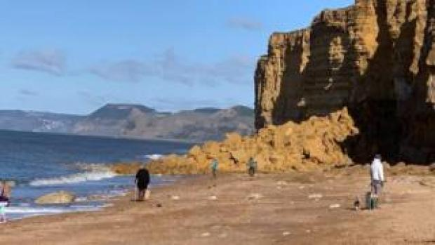 Hive beach rock fall