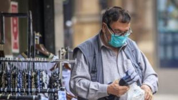 An Asian man with a mask in Bradford