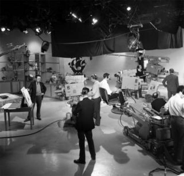 The Blue Peter studio in 1963