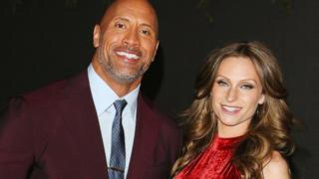 The Rock (Dwayne Johnson) and Lauren Hashian