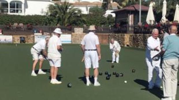 bowls players in Spain