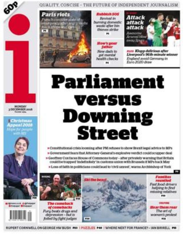 The i front page, 3/12/18