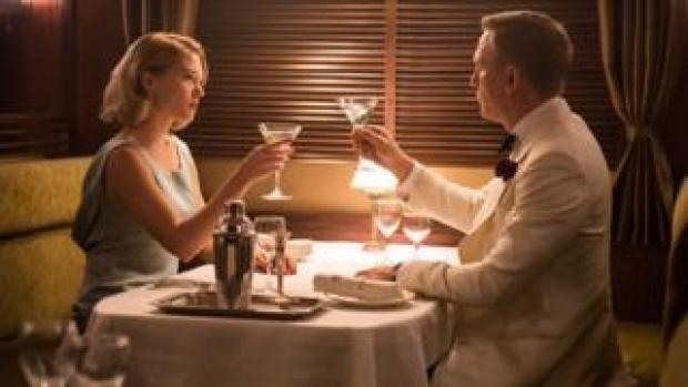 Lea Seydoux and Daniel Craig in Spectre