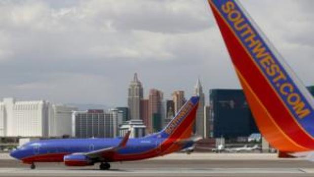 Southwest Airlines planes in Las Vegas